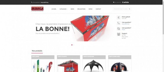 Refonte du site catalogue Expoz